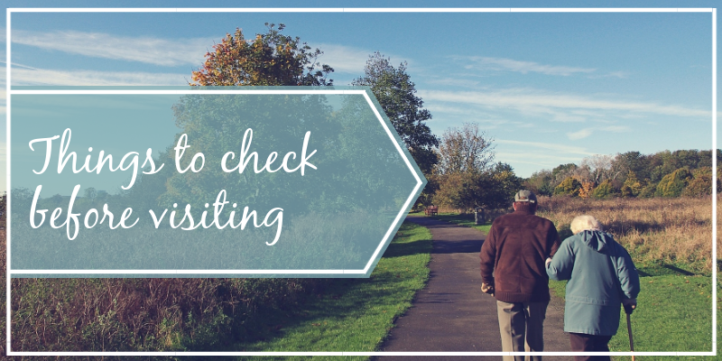 Checklist Before Visiting Care Homes Banner