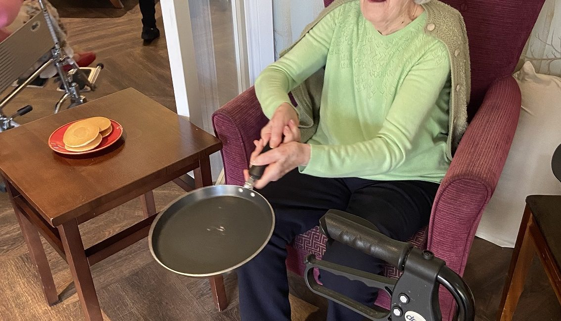 pancake day activities at encore care homes