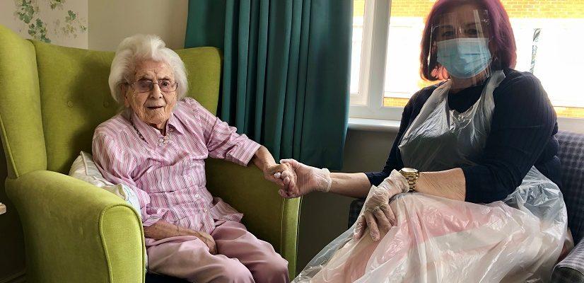 Karen Denham with mum Sheila Smith at Great Oaks