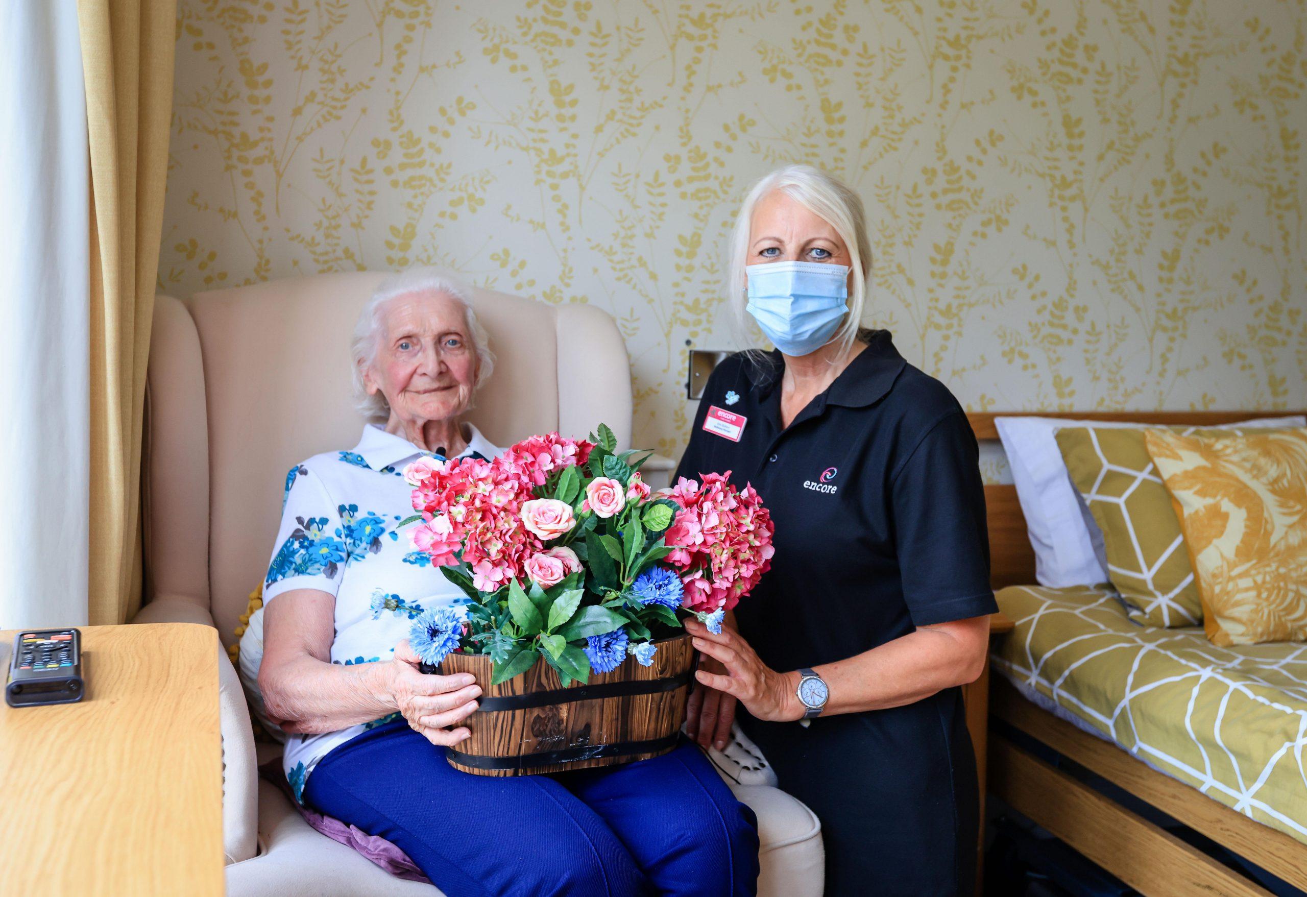 Rita's short summer stay at encore care homes